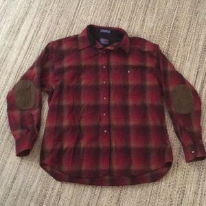 Pendleton Trail Shirt Flannel with Elbow Caps, XL